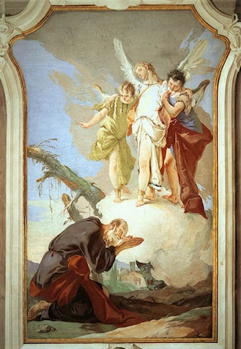 The Three Angels Appearing to Abraham by Giovanni Battista Tiepolo