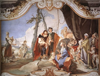 Rachel Hiding the Idols from her Father Laban by Giovanni Battista Tiepolo