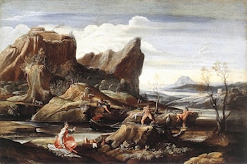 Landscape with Bathers by Antonio Carracci