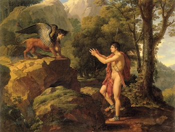 Oedipus and the Sphinx by Francois-Xavier Fabre