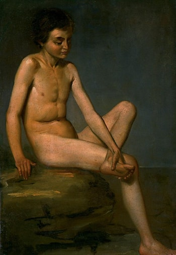 Study of a Nude Boy by Francois-Xavier Fabre