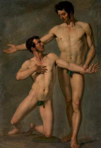 Two Male Nudes by Francois-Xavier Fabre