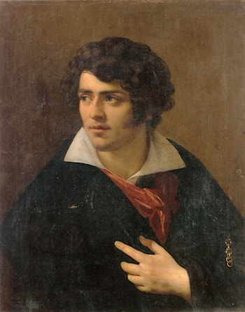 Portrait of a Young Man by Anne-Louis Girodet de Roucy-Triosson