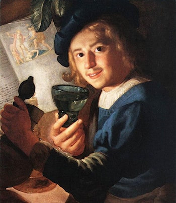 Young Drinker by Gerrit van Honthorst