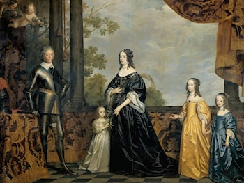 Frederick Henry, Prince of Orange, with His Wife and Daughters by Gerrit van Honthorst