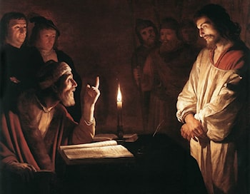 Christ before the High Priest (detail) by Gerrit van Honthorst