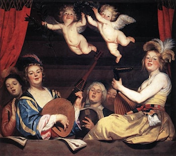 Concert on a Balcony by Gerrit van Honthorst