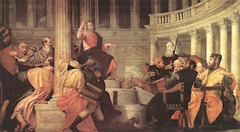 Jesus among the Doctors in the Temple by Paolo Veronese