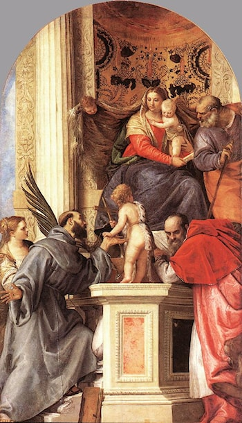 Madonna Enthroned with Saints by Paolo Veronese