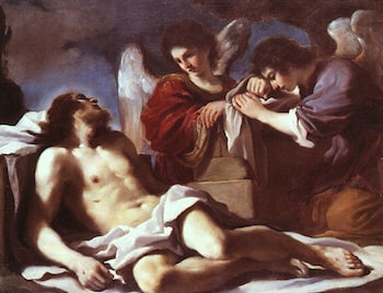 Angels Weeping over the Dead Christ by Guercino