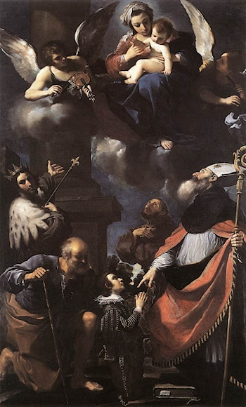 A Donor Presented to the Virgin by Guercino