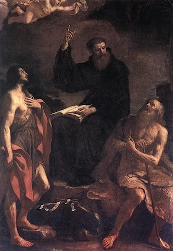 St Augustine, St John the Baptist and St Paul the Hermit by Guercino