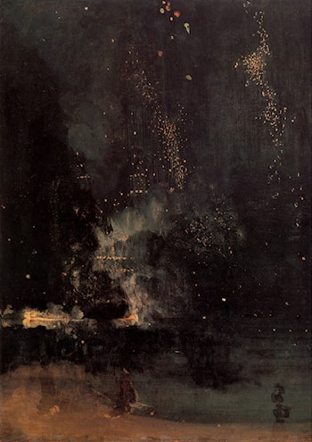 Nocturne in Black and Gold: The Falling Rocket by James Abbott McNeill Whistler