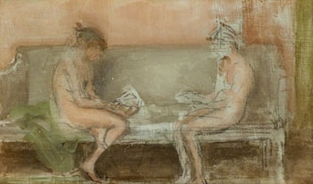 Flesh Colour and Silver: The Card Players by James Abbott McNeill Whistler