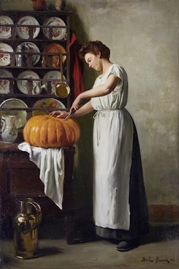 Carving the Pumpkin by Franck Antoine Bail