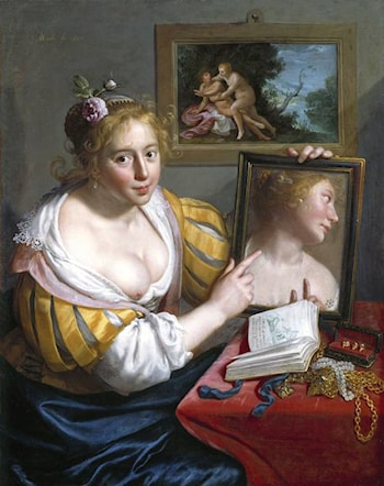 Girl with a Mirror (Allegory of Profane Love) by Paulus Moreelse