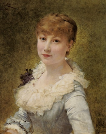 Portrait of a Young Lady by Theobald Chartran