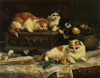 The Three Kittens by Charles van den Eycken