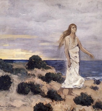 Woman By The Sea by Pierre Cecile Puvis de Chavannes