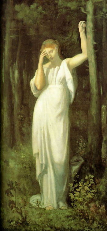 The Meditation by Pierre Cecile Puvis de Chavannes