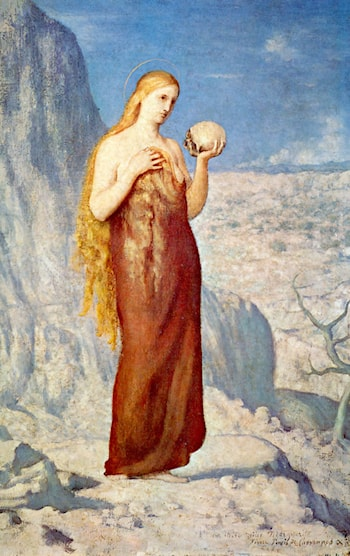 Mary Magdalene at St. Baume by Pierre Cecile Puvis de Chavannes