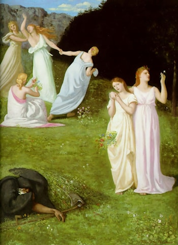 Death and the Maiden by Pierre Cecile Puvis de Chavannes