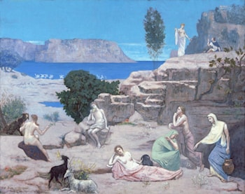 Ancient Vision by Pierre Cecile Puvis de Chavannes