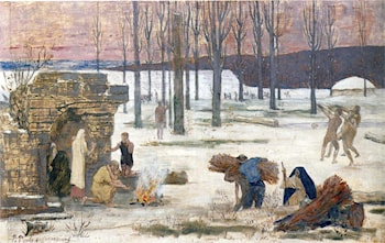 Winter by Pierre Cecile Puvis de Chavannes