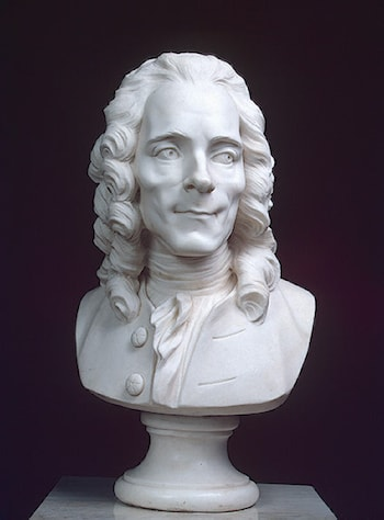 Portrait of Voltaire by Marie-Anne Collot