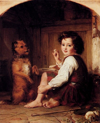 Begging For Bread by Thomas Francis Dicksee