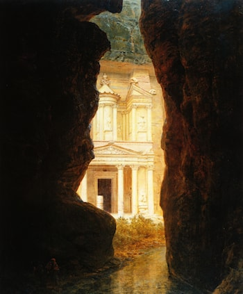 El Khasne, Petra by Frederic Edwin Church