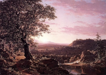 July Sunset, Berkshire County, Massachusetts by Frederic Edwin Church