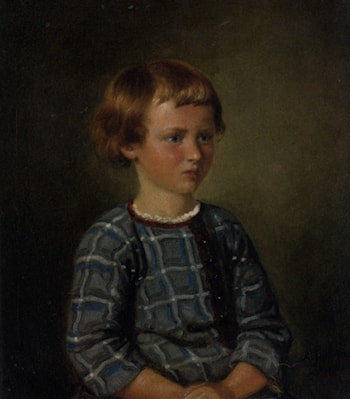 Portrait of a Young Girl by Adolph Tidemand