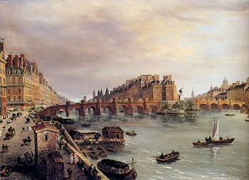 Paris With A View Of The Pont Neuf by Domenico Ferri