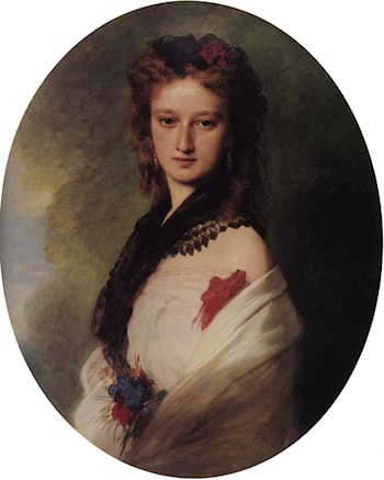 Zofia Potocka, Countess Zamoyska by Franz Xavier Winterhalter