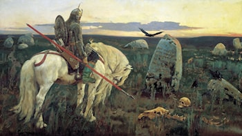 A Knight at the Crossroads by Victor Michailovitch Vasnetsov
