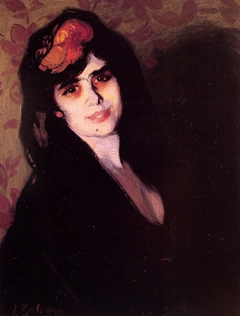 Portrait of a young woman by Ignacio Zuloaga y Zabaleta