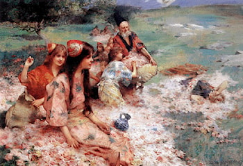 Oriental Fantasy by Henry Siddons Mowbray