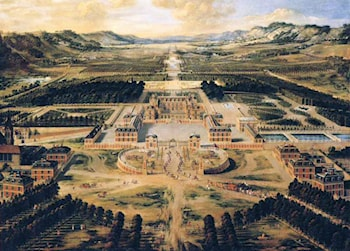 Bird's Eye View of the Chateau and Gardens of Versailles by Pierre Patel