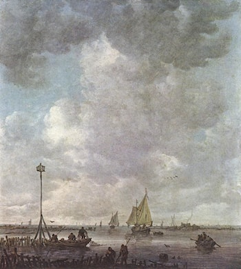 Marine Landscape with Fishermen by Jan van Goyen