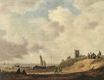 Seashore at Scheveningen by Jan van Goyen