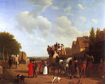 The Last Stage on the Portsmouth Road by Jacques-Laurent Agasse