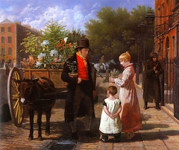 The Flower Seller by Jacques-Laurent Agasse
