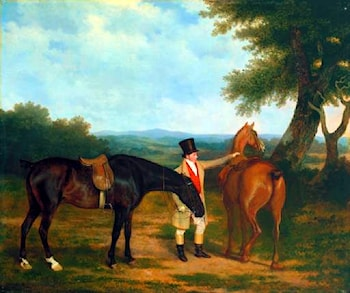 Two Hunters with a Groom by Jacques-Laurent Agasse