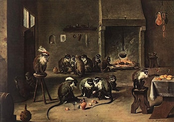Apes in the Kitchen by David the Younger Teniers