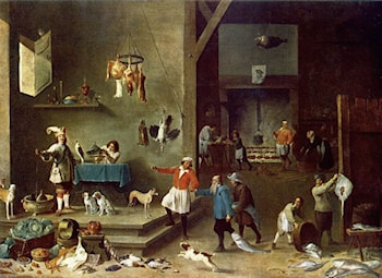 The Kitchen by David the Younger Teniers