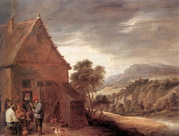 Before the Inn by David the Younger Teniers