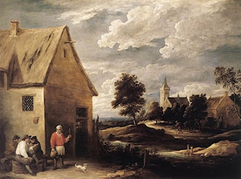 Village Scene by David the Younger Teniers