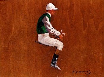 A Jockey Study For Hethersett Races by Sir Alfred James Munnings