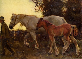 Wending Home by Sir Alfred James Munnings
